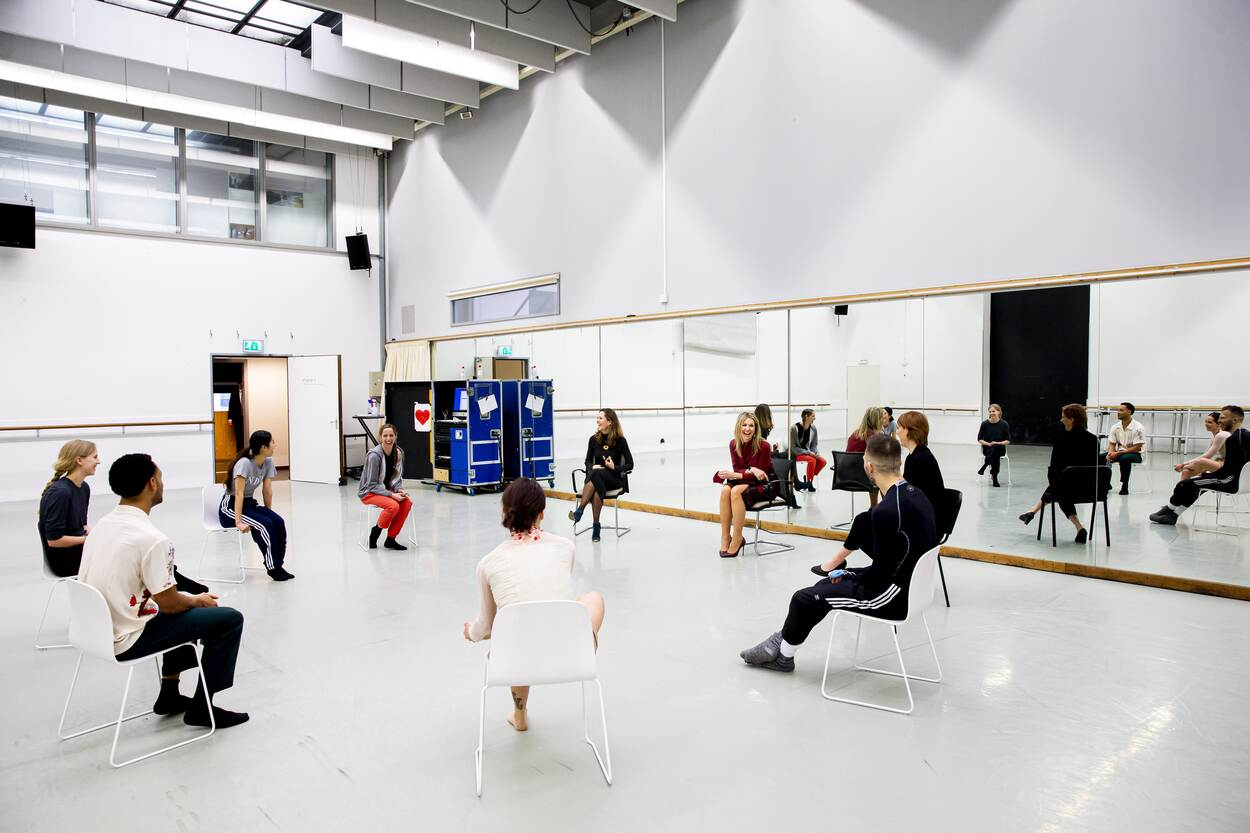 Queen Maxima visited Netherlands Dance Theater in Hague