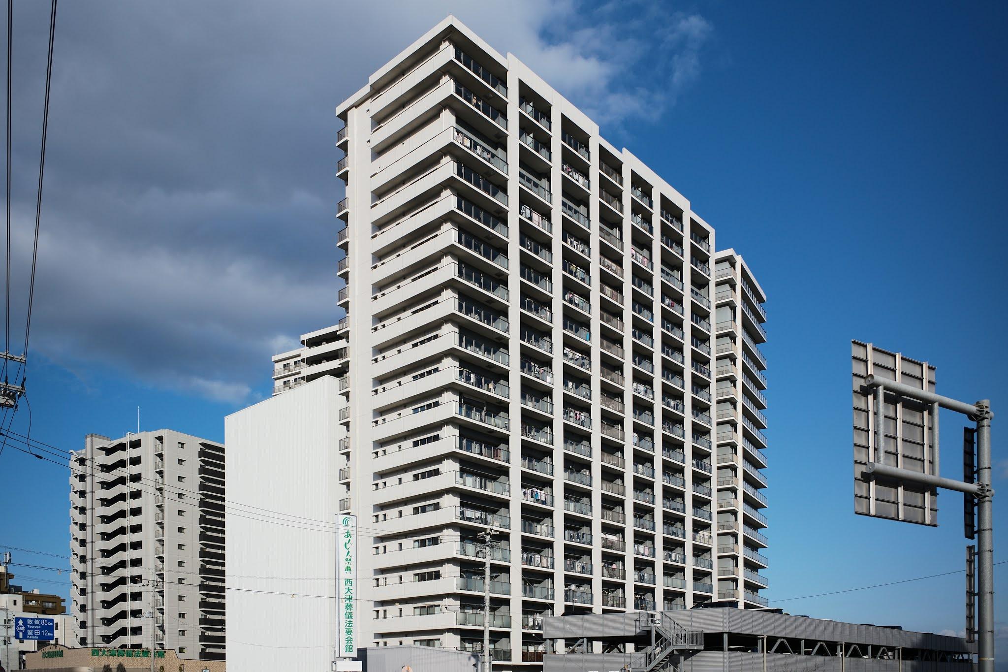 アオリ撮影 マンション建築写真
