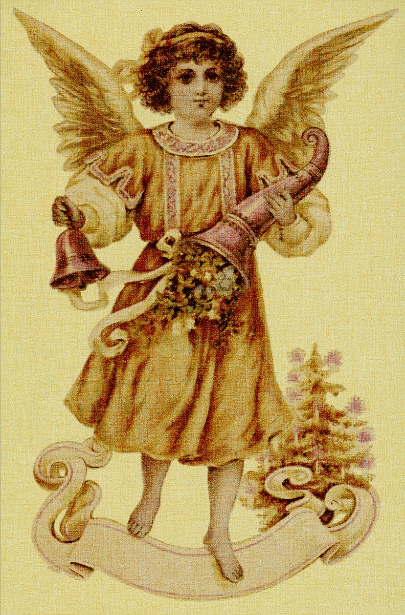 free christmas graphics Victorian angel