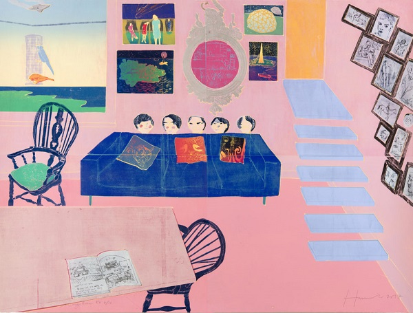 "Tom Hammick - ""Living Room"", 2017 