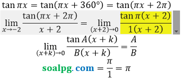 bahas limit campuran aljabar trigonometri