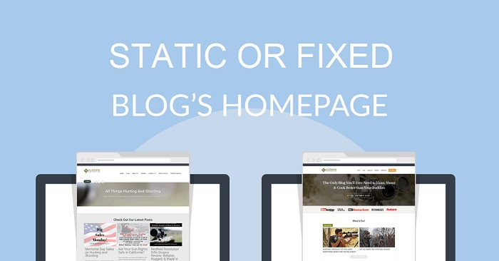 Set Static Or Fixed Home Page For Blog In Blogger