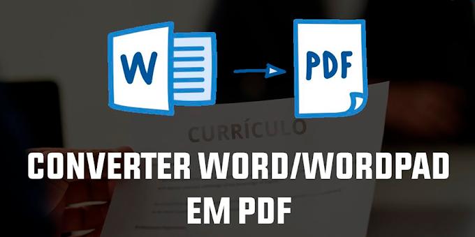 Como converter e editar um currículo / documento em PDF Word / Wordpad