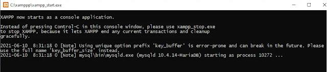 Command Prompt xampp_start
