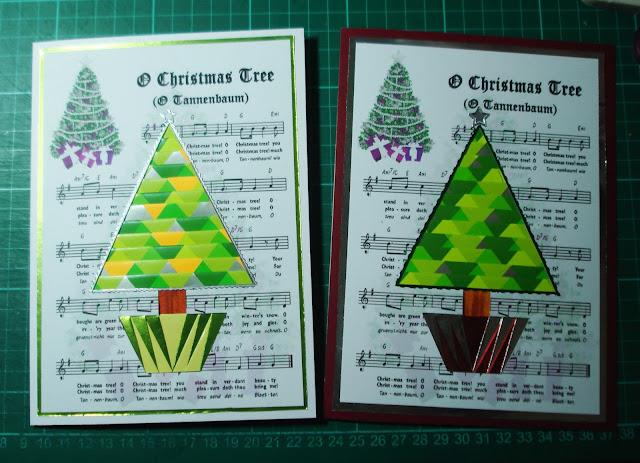 Lorraine Lives Here: O Christmas Tree Iris Folding Cards