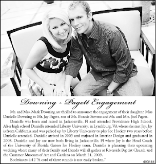 Etiquette Announcing Your Engagement In The News Paper