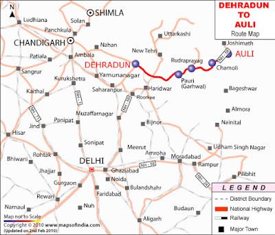 Auli Map