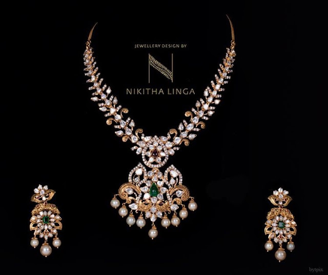 Latest Pachi Necklace by Nikitha Linga