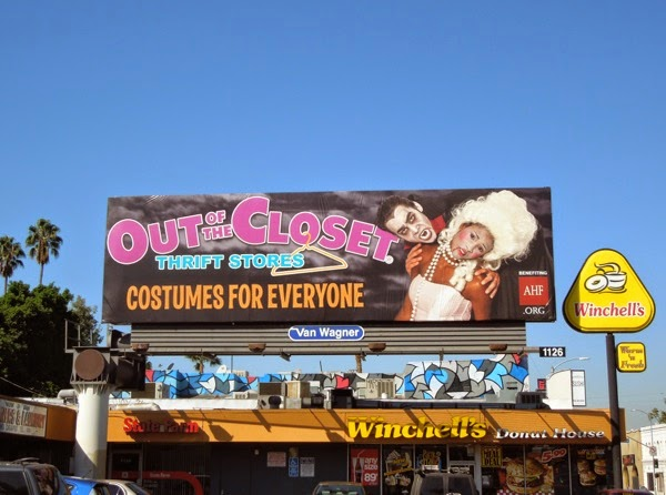 Out of the Closet Halloween vampire billboard