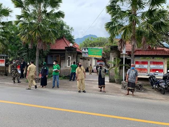 GP Ansor/Banser 04-D dan LPBINU Desa Pemuteran Bersama Aparat Desa Lakukan Edukasi Masyarakat Cegah Covid-19