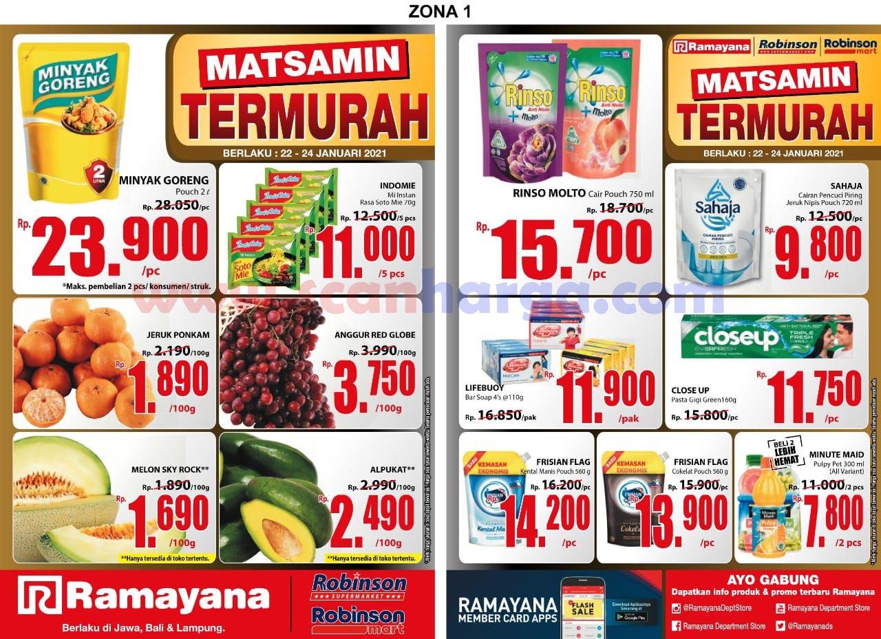Katalog Promo SPAR Dan Ramayana Supermarket 22 - 24 Januari 2021