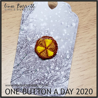 One Button a Day 2020 by Gina Barrett - Day 54: Radiation