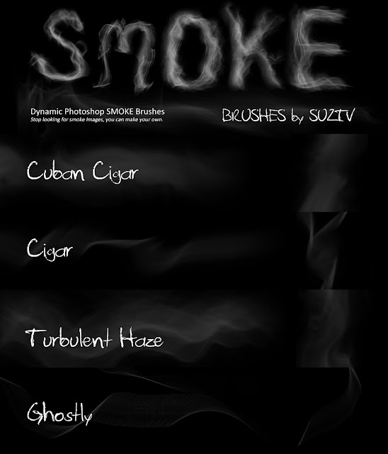 Smoke Brushes for Photoshop set 01