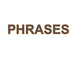 Phrases examples list