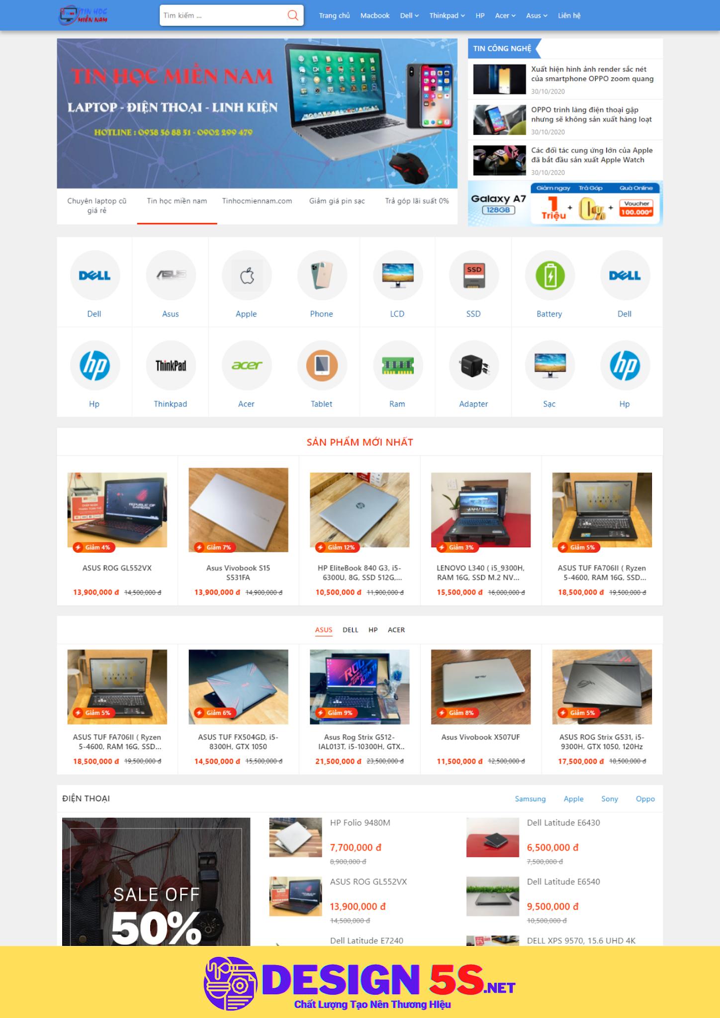 Theme blogspot bán laptop, điện thoại, máy tính bảng, VSM39 - Ảnh 1
