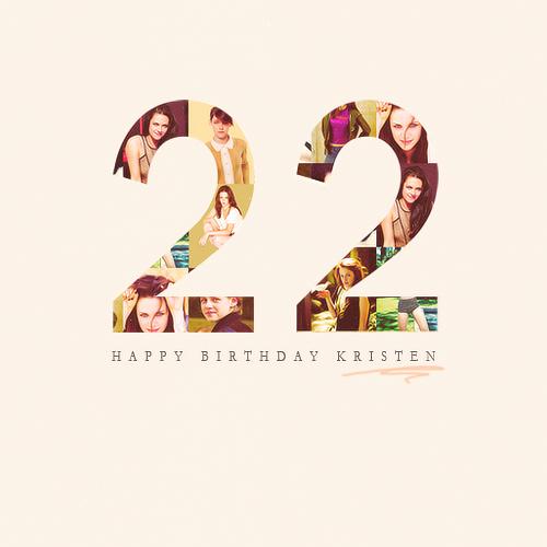 Snow White And The Vampire: Happy 22nd Birthday Kristen
