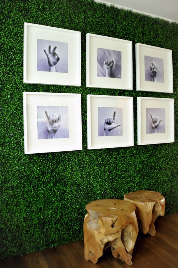 diy home sweet home 9 fake grass project ideas. Black Bedroom Furniture Sets. Home Design Ideas