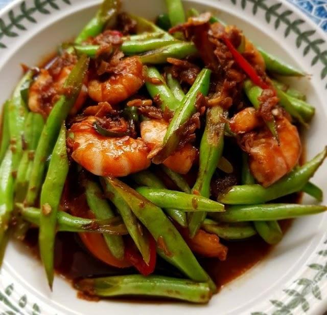 Tumis Buncis Udang, Masakan Rumahan yang Mudah Dibuat   PikiranSaja.com