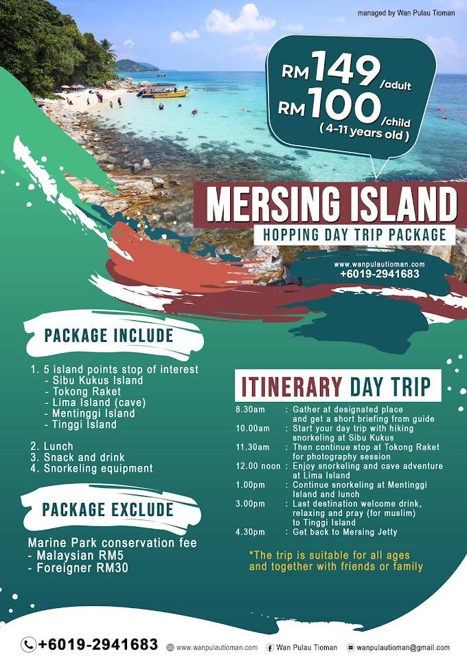 Pakej Day Trip Ke Pulau Mersing 2021 ~ Trip Pulau Tinggi
