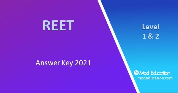 REET Paper Answer Key 2021 PDF