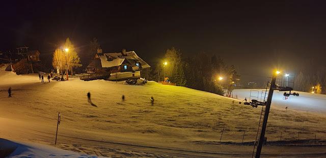 Czorsztyn Ski, góra Wdżar, trasa niebieska 1 i 2