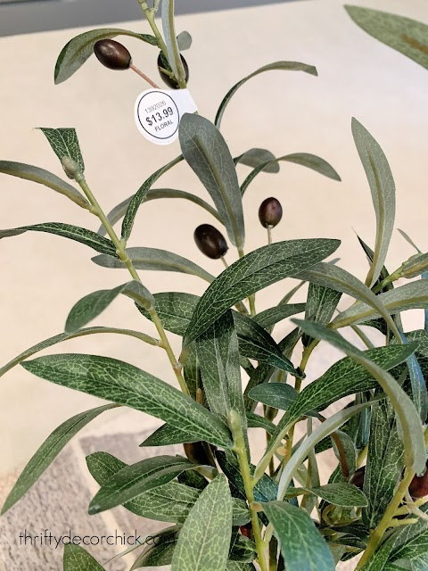 fake olive branch bush