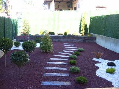 Decoracion actual de moda jard n de piedras espectacular - Jardineria en valencia ...