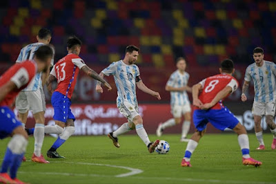 ملخص واهداف مباراة الارجنتين وتشيلي (1-1) تصفيات كأس العالم