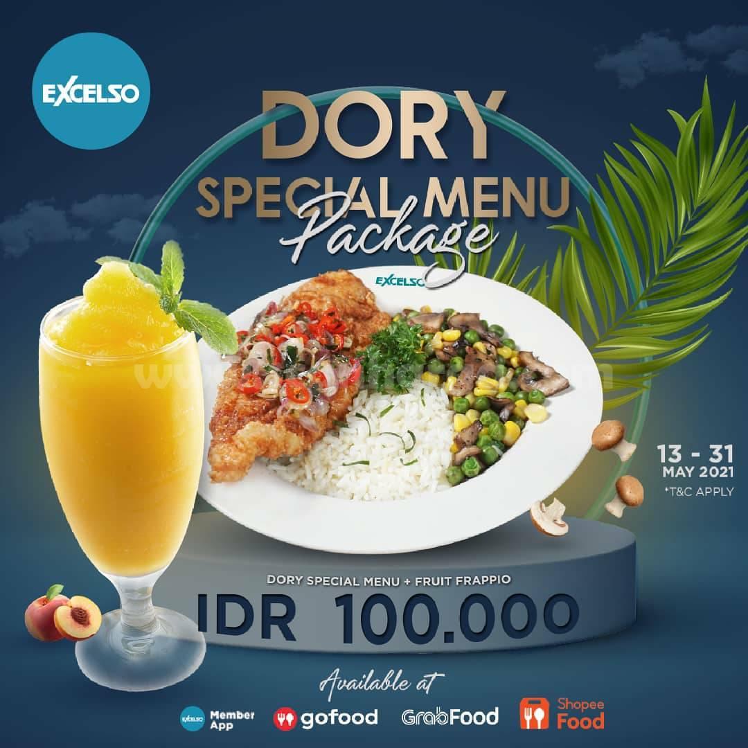 Promo EXCELSO Paket Dory Special & Fruit Frappio Harga spesial cuma Rp. 100.000