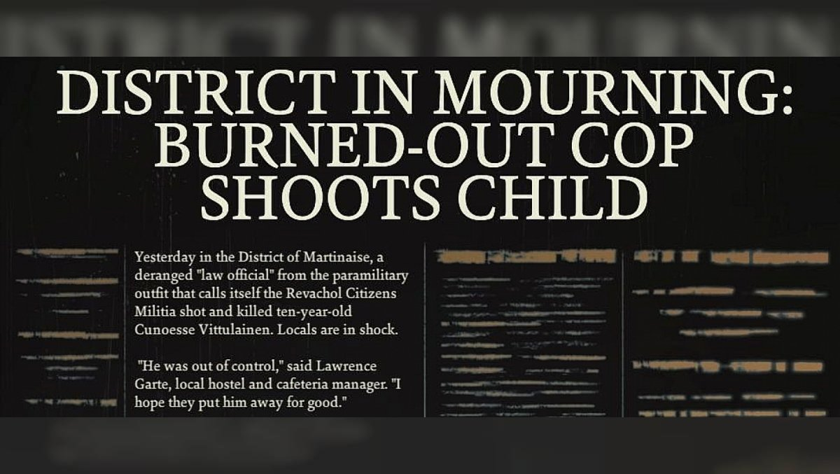 District In Mourning: Burned-out Cop Shoots Child