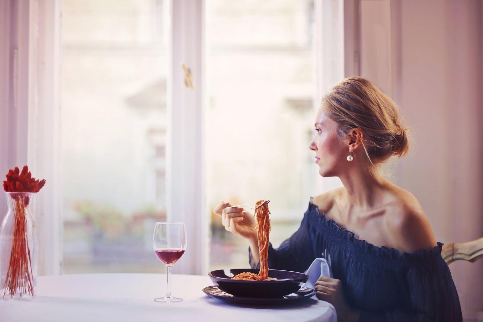Woman and food