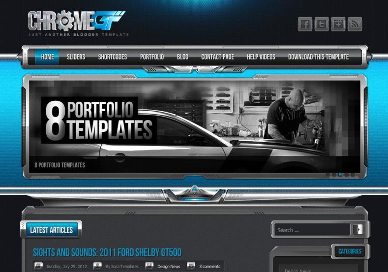ChromeGT Blogger Template Full Version Free Download | Myekonet