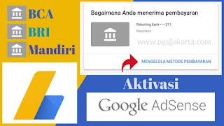 Cara Setting Pembayaran Adsense IDR menggunakan Bank Lokal