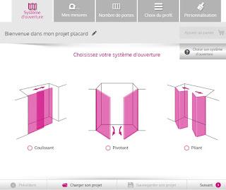 configurateur de portes de placard en ligne