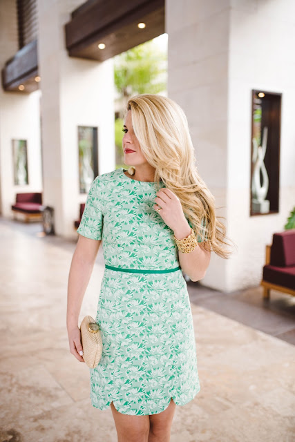 Greenhill Blossom Jacquard Dress