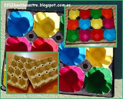 Teje en PEQUES: Huevera para clasificar colores