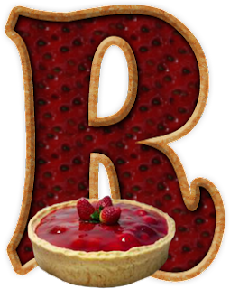 Abecedario con Tarta o Pie de Fresa. Alphabet with Strawberry Pie.