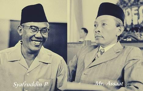 Syafruddin Prawiranegara dan Mr. Assaat adalah sosok Presiden Indonesia yang terlupakan