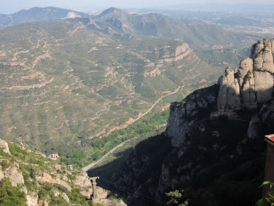 Great view from the Montserrat Abbey