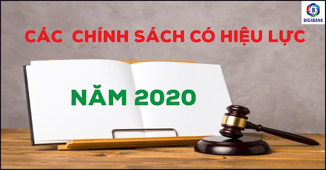 Các Chính Sách Có Hiệu Lực 2020