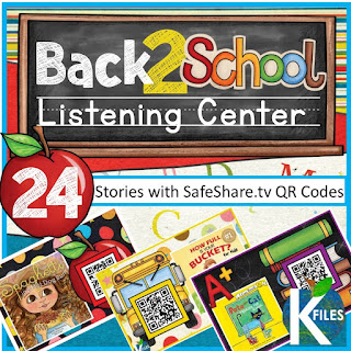 Back to School Listening Library with SafeShare QR Codes and Links