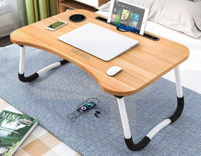 Ardith Multi-Purpose Laptop Desk for Study and Reading with Foldable