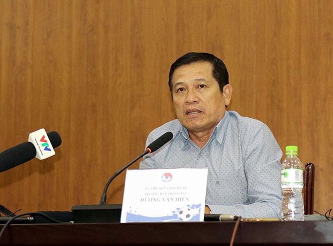 Trưởng ban trọng tài Dương Văn Hiền chưa trực tiếp xin lỗi CLB Nam Định