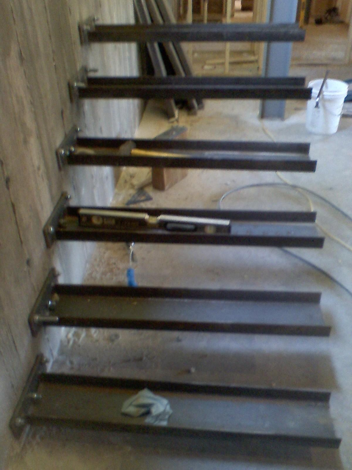How To Build Floating Stairs Timber Springs Lodge Floating Stair Update