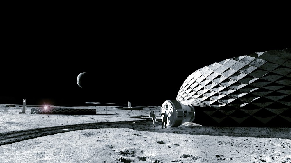 Project Olympus concept by ICON & BIG for NASA's Artemis Base Camp