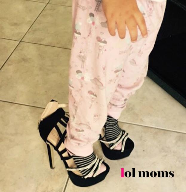 baby girl with high heels