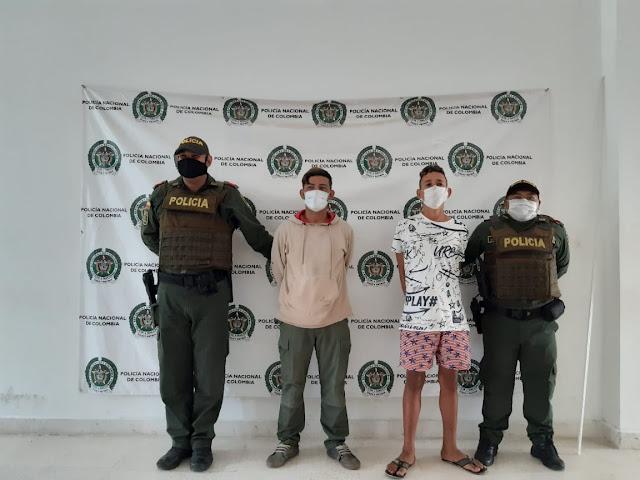 https://www.notasrosas.com/Recuperan elementos hurtados en Riohacha y capturan a los implicados