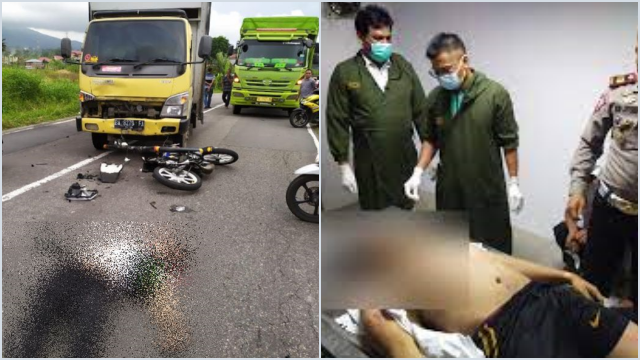 Kecelakaan Mengerikan di Padang Panjang, Polisi Lalu Lintas Tewas Ditabrak Truk
