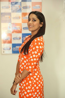 Actress Rashmi Gautham Pictures in Short Dress at tur Talkies Promo Song Launch at Radio City  0002