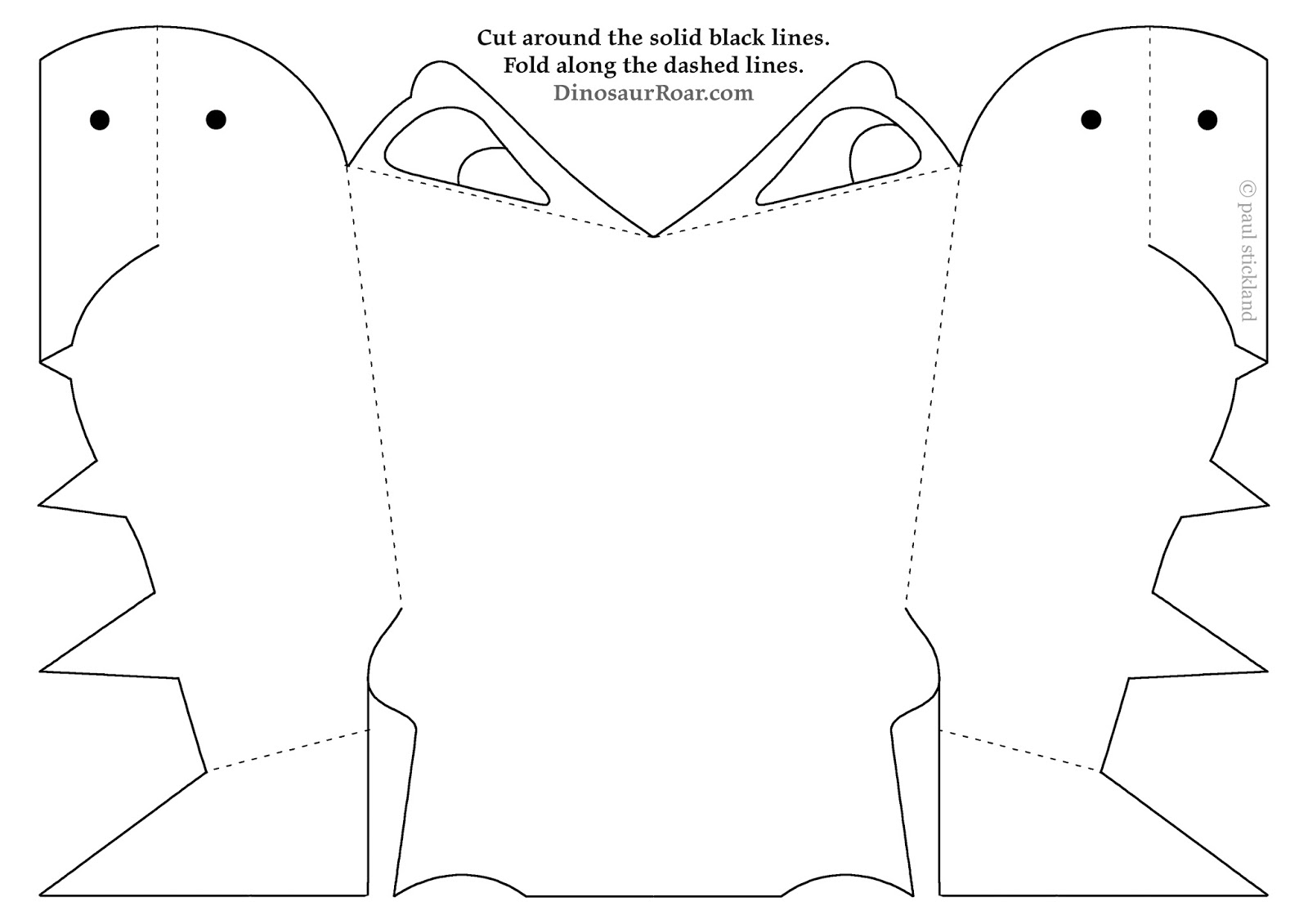 Paul stickland blog free dinosaur roar masks for kids for Dinosaur templates to print